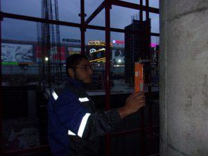 Контроль прочности бетона при строительстве кинотеатра