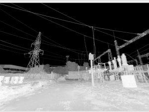 Скан опор линий электропередач