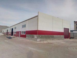 Фасады склада площадью 1500 м2