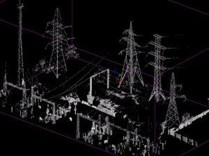 Скан линий электроэнергетических сооружений