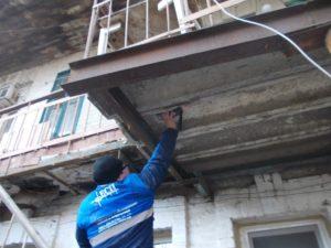 Обследование аварийного балкона