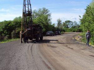 Работы по обследованию дороги
