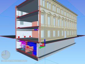 Проект трехэтажного офисного здания в Москве