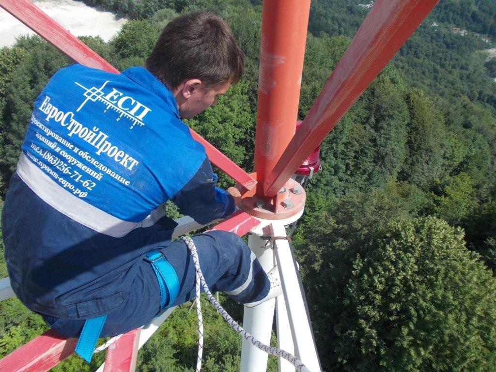 обмерные работы на башнях связи