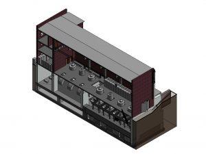 Модель здания насосной